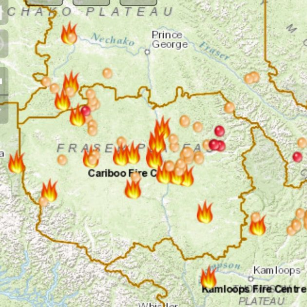 250 News Bc Wildfire Service Has Interactive Map Of Fires